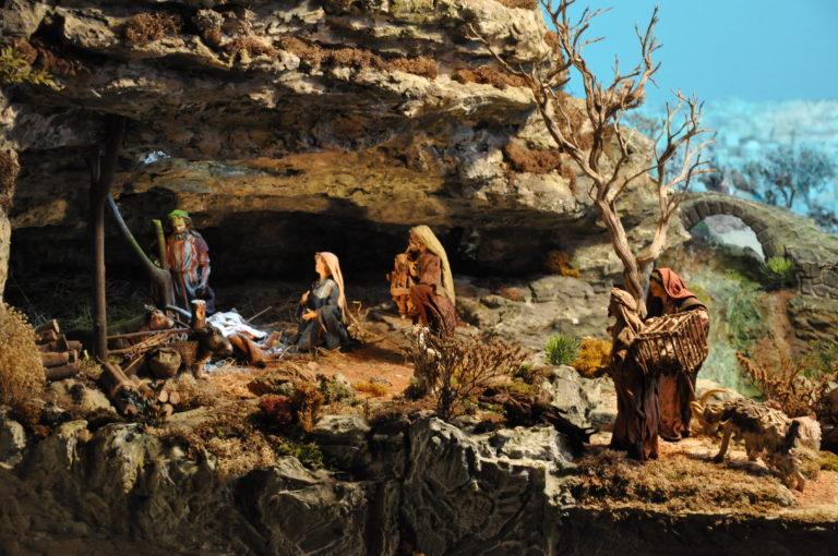 Presepio di Ciciana - I pastori alla grotta
